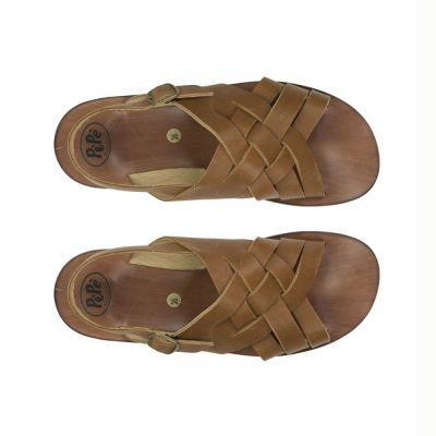 Leather Sandals Kava Brown by Pepe Children Shoes-26EU