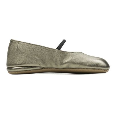 Leather Slippers Gold by Pepe Children Shoes