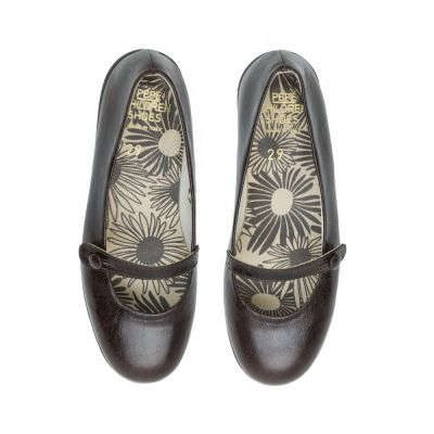 Leather Ballerinas Cappuccino by Pepe Children Shoes