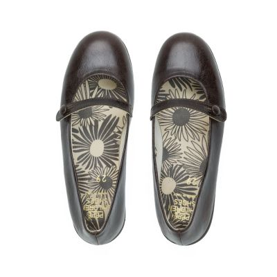 Leather Ballerinas Cappuccino by Pepe Children Shoes-24EU