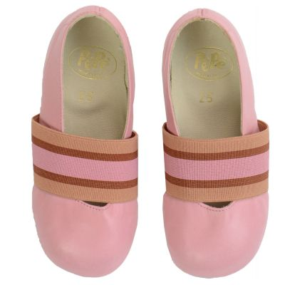 Leather Slippers Nappa Rose by Pepe Children Shoes-22EU