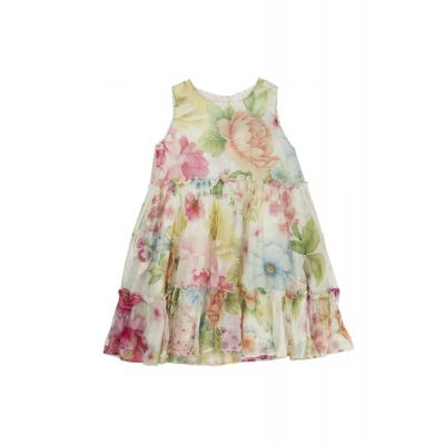 Silk and Cotton Dress with Flower Print by Pero