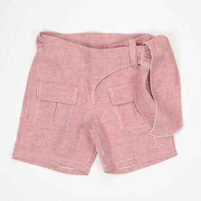 Linen Shorts Portoselvaggio Red by Touriste
