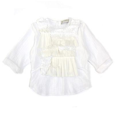 Cotton Blouse Sofia White by Anja Schwerbrock
