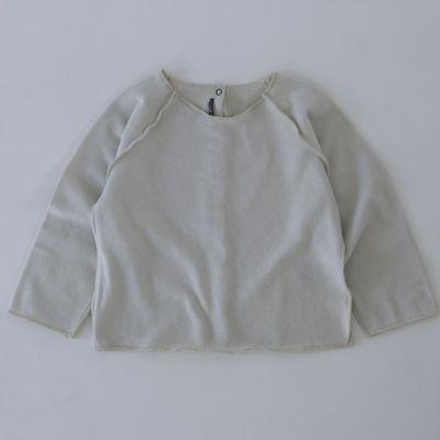 Soft Baby Sweatshirt Kinya Chalk by Album di Famiglia