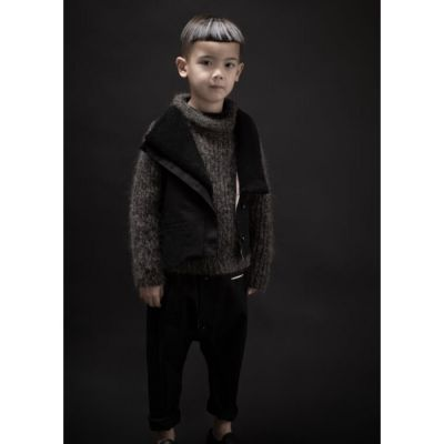 Woolen Pullover Loroni Mud Marl by Anja Schwerbrock-4Y