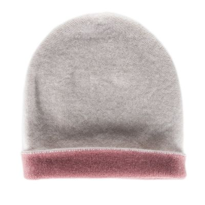 Reversible Cashmere Hat Simplex Light Rose/Dark Pink by Warm-Me