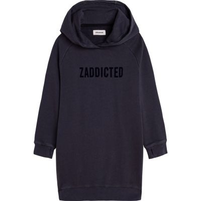 Hooded Sweatshirt Dress Blake Dark Grey by Zadig & Voltaire