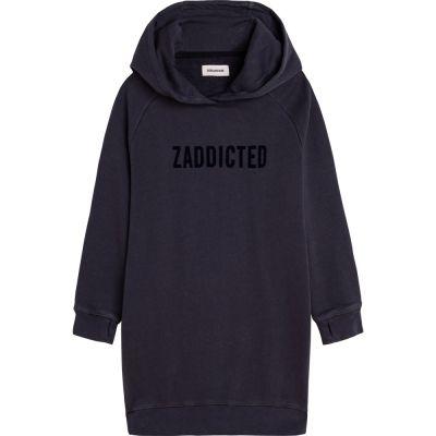 Hooded Sweatshirt Dress Blake Dark Grey by Zadig & Voltaire-6Y