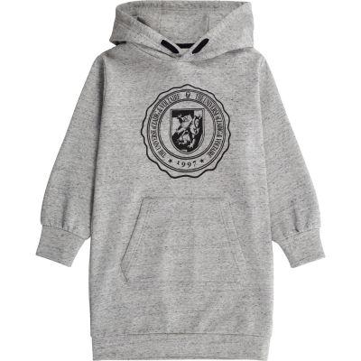 Hooded Sweatshirt Dress Laure Grey Melange by Zadig & Voltaire-6Y