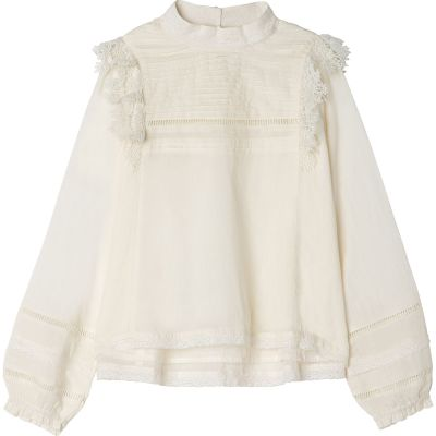 Blouse Ivy with Lace Details Ivory by Zadig & Voltaire-6Y