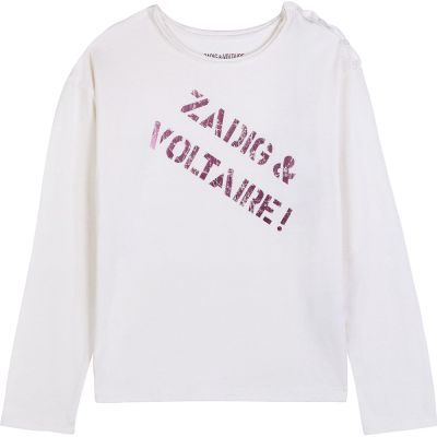 T-Shirt Anie Ivory by Zadig & Voltaire-6Y