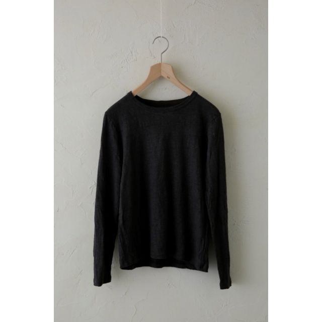 Linen Long Sleeved Shirt Charcoal Brown by Vlas Blomme
