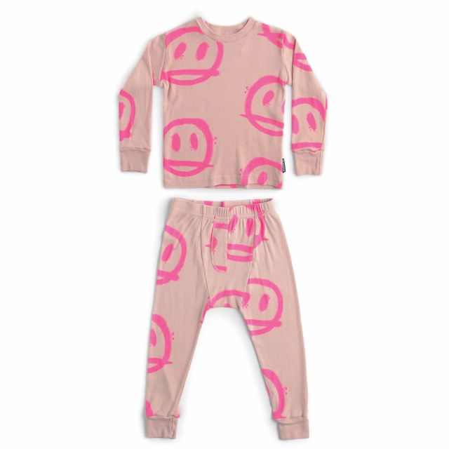 Sprayed Smile Loungewear Powder Pink by Nununu