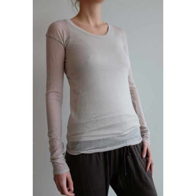 Gauze Cashmere Top Sand by Private0204