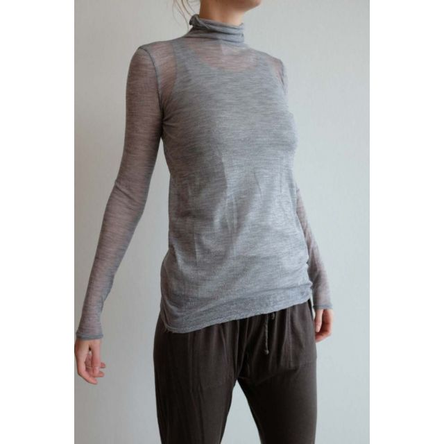 Gauze Cashmere Turtleneck Grey by Private0204