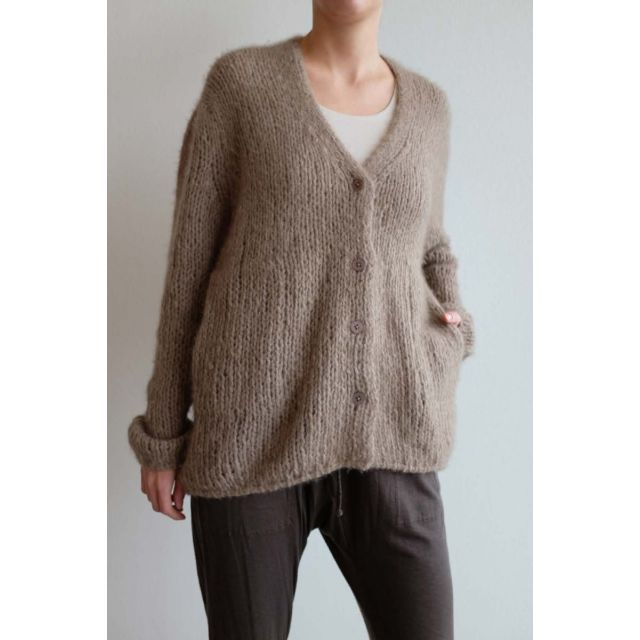 Handmade Cashmere Cardigan Brown by Private0204