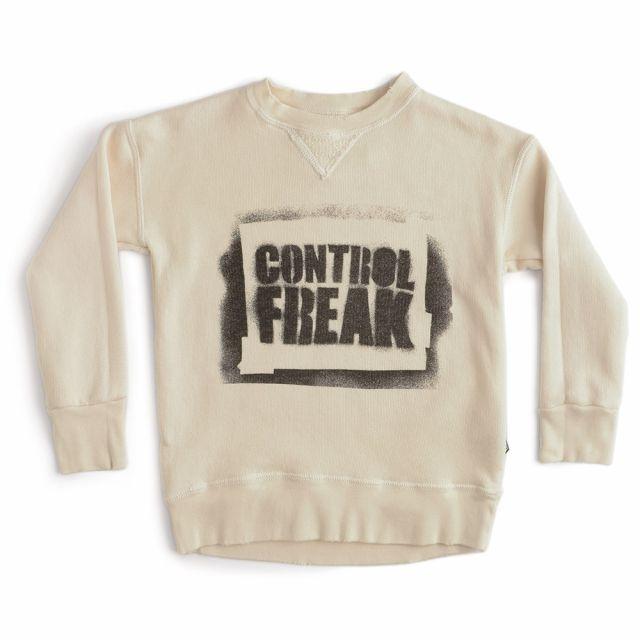 Sweatshirt Sprayed Control Freak Natural by Nununu