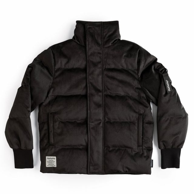 Velvet Down Jacket Black by Nununu