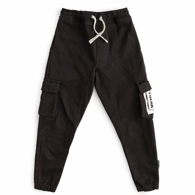Patch Cargo Pants Black by Nununu