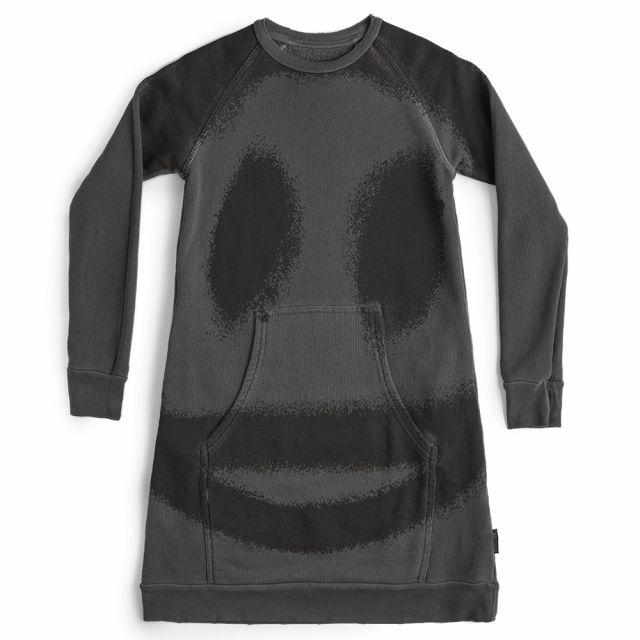 Sprayed Smile A Dress Vintage Grey by Nununu