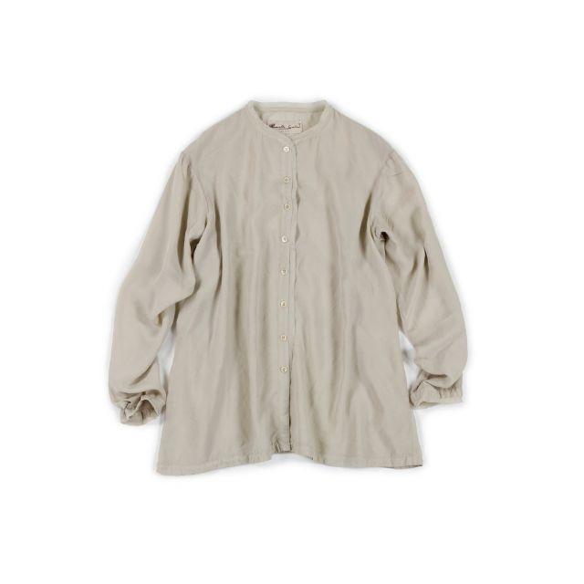 Silk Shirt Sato Winter White by Manuelle Guibal