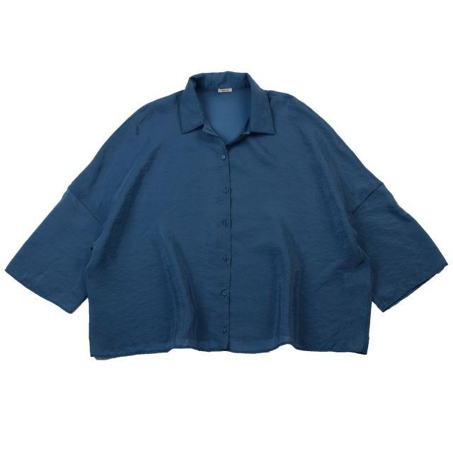 Wide Collar Shirt Blue by ApuntoB