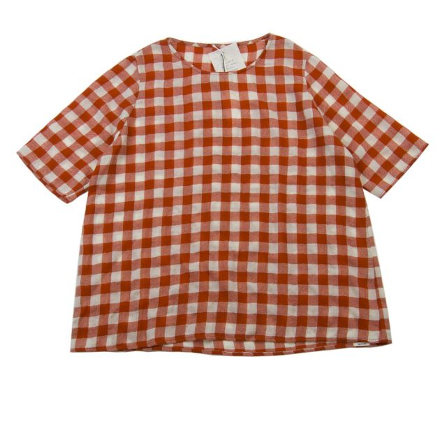 Cashmere Blouse Red Milk Check by ApuntoB