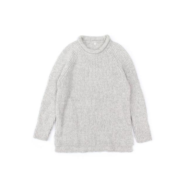 Knitted Woolen Pullover Loroni Light Grey Marl by Anja Schwerbrock