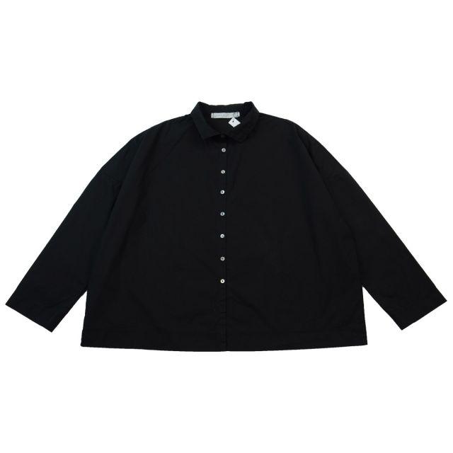 Short Collar Shirt Black by Album di Famiglia