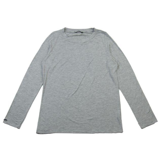 Micromodal Simply T-Shirt Light Grey by Album di Famiglia