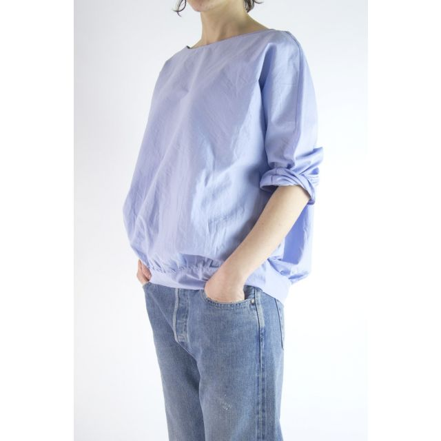 Cotton and Silk Blouse Light Blue by ApuntoB