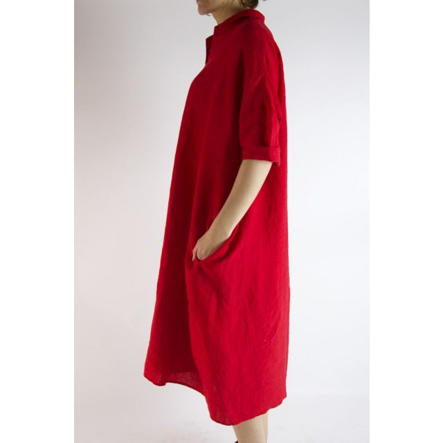 Linen Dress Cherry by ApuntoB