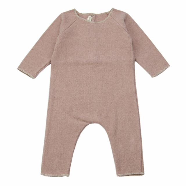 Soft Jersey Baby Overall Pink by Babe & Tess