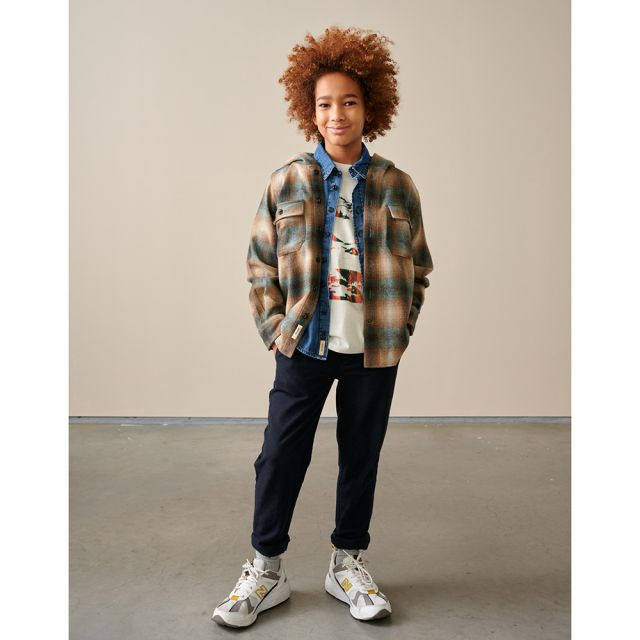 Hooded Overshirt Gibson Check by Bellerose