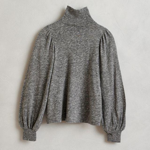 Soft Turtleneck Shirt Mazo Mid Grey by Bellerose