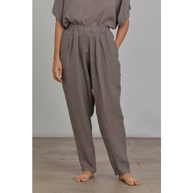 Linen Pants Carpenter Grey by Black Crane