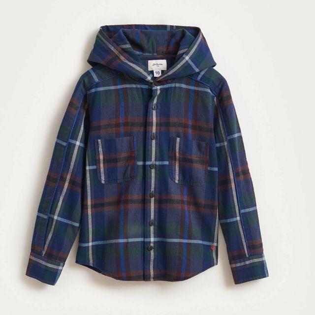 Hooded Overshirt Gautier Check by Bellerose
