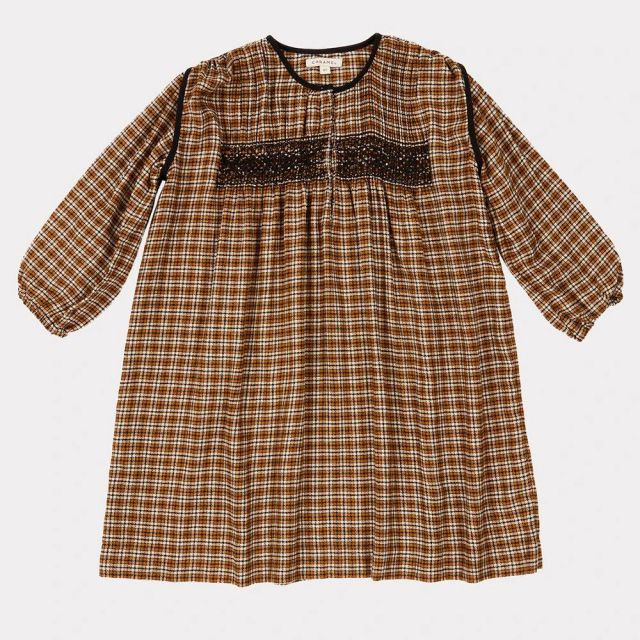 Dress Dove Yellow Check by Caramel