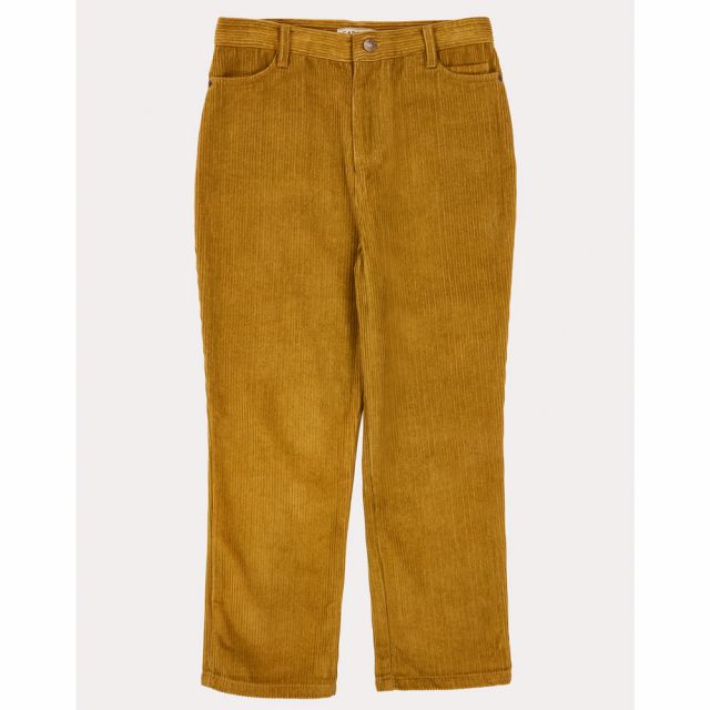 Cord Trousers Crow Mustard by Caramel
