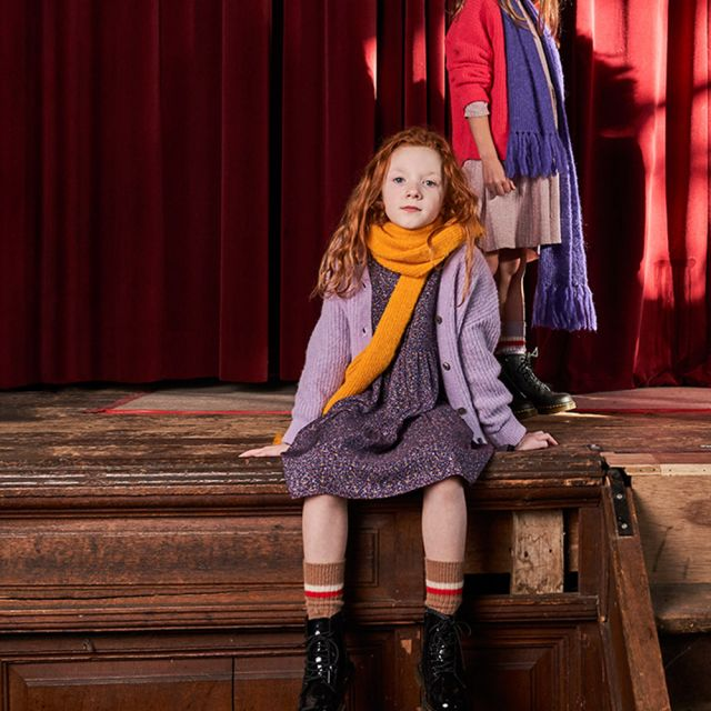 Woolen Cardigan Pontis Lilac by Maan