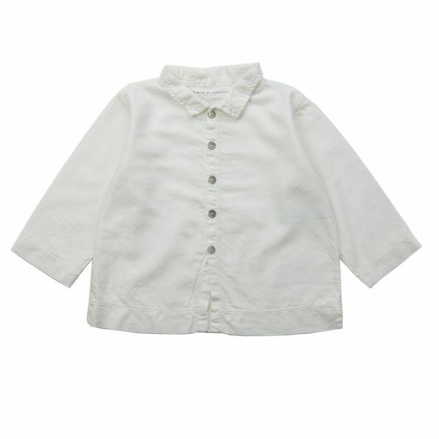 Soft Canvas Baby Shirt Martino Milk by Album di Famiglia