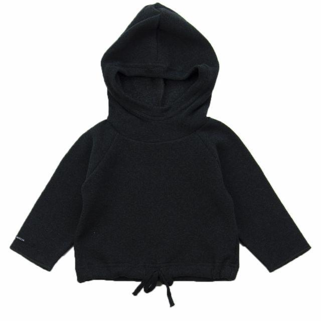 Soft Jersey Baby Hoodie Gulli Almost Black by Album di Famiglia