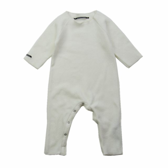 Soft Jersey Baby Overall Buddy Milk by Album di Famiglia