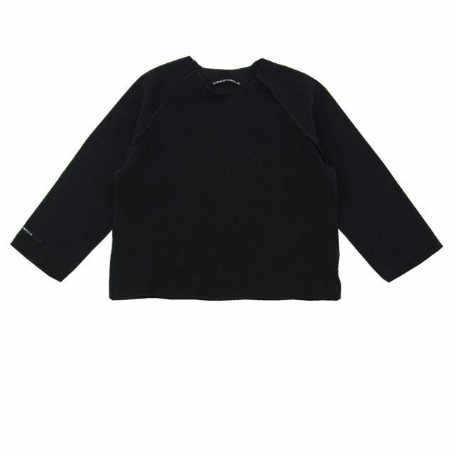 Soft Jersey Pullover Kinya Black by Album di Famiglia