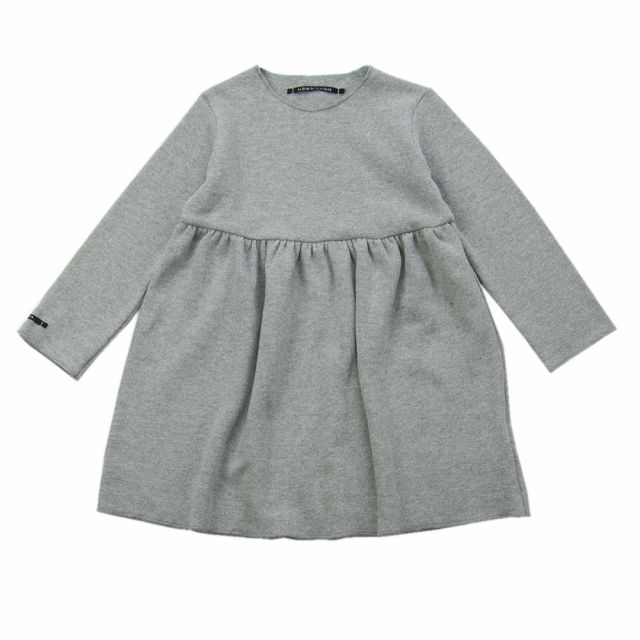 Soft Jersey Baby Dress Norry Light Grey by Album di Famiglia