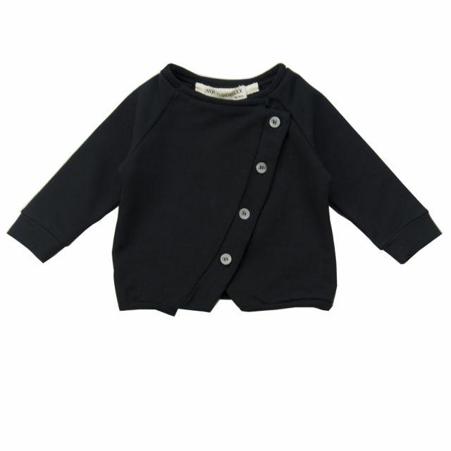 Baby Cardigan Lavoni Black by Anja Schwerbrock