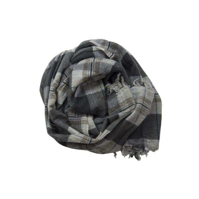 Handwashed Slow Cashmere Scarf Old Black Check by Private0204