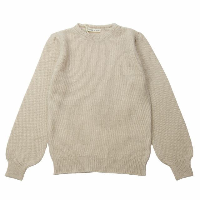 Woolen Romantic Knit Pullover Natural by Babe & Tess