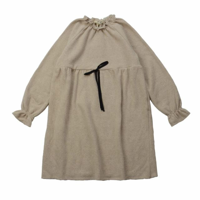 Soft Jersey Mini Dress Natural by Babe & Tess